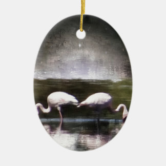 Flamingo Nights Christmas Tree Ornaments