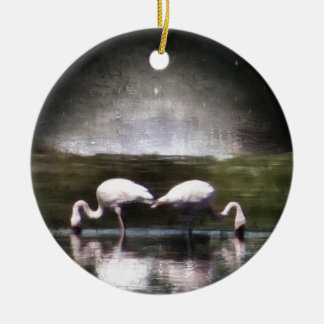 Flamingo Nights Christmas Ornament