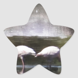 Flamingo Nights Star Sticker
