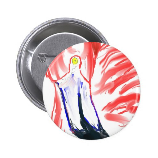 Flamingo Oil Painting Pink Flamingoe drawing Button