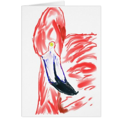 Flamingo Oil Painting Pink Flamingoe drawing Greeting Cards