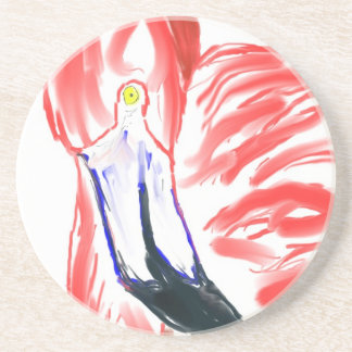 Flamingo Oil Painting Pink Flamingoe drawing Drink Coaster