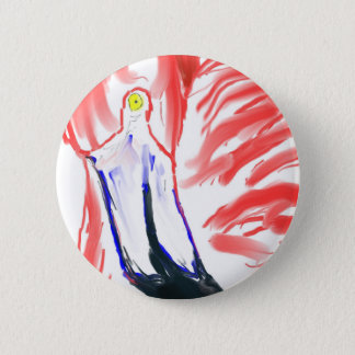 Flamingo Oil Painting Pink Flamingoe drawing Pinback Button