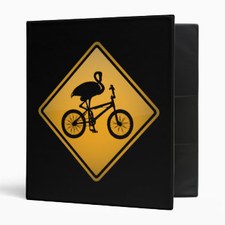 Flamingo on Bicycle Binder