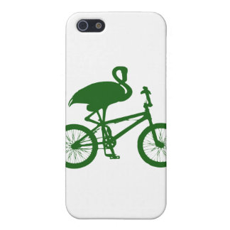 Flamingo on Bicycle Silhouette iPhone 5 Cover