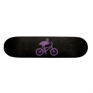 Flamingo on Bicycle Silhouette Skateboards