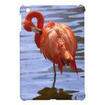 Flamingo on one leg in water iPad mini covers