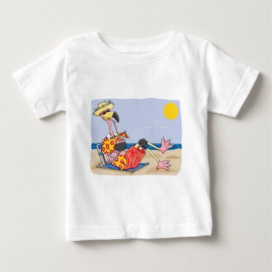 Flamingo On the Beach Baby T-Shirt