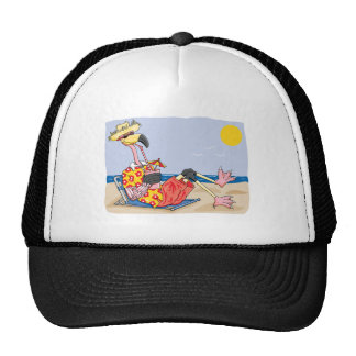 Flamingo On the Beach Trucker Hat