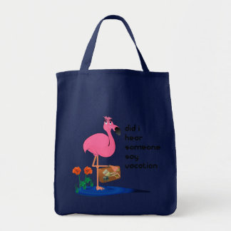 Flamingo on Vacation Tote