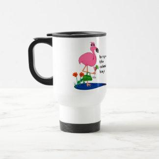 Flamingo on vacation Travel Mug