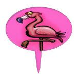 Flamingo Oval Cake Picks