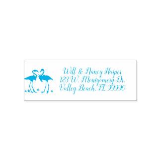 Flamingo Pair Custom Address Ink Stamp