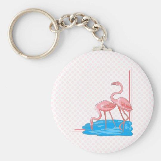 Flamingo Pair Keychain