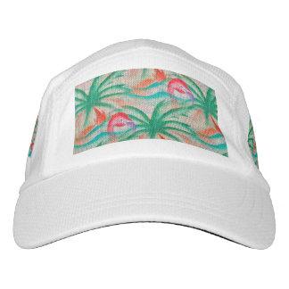 Flamingo Palm Tree Burlap Look