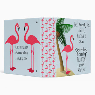 Flamingo Palm Tree Family Reunion Photo Binder