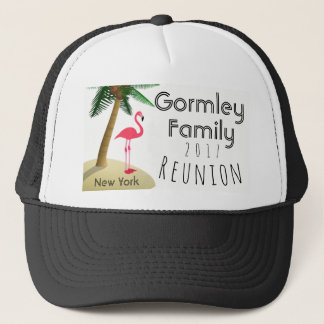 Flamingo Palm Tree Tropical Family Reunion Hat