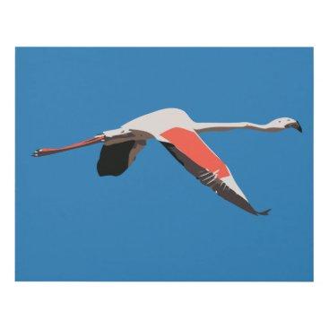 Art Themed Flamingo Panel Wall Art
