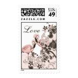 Flamingo Paradise Postage Stamp