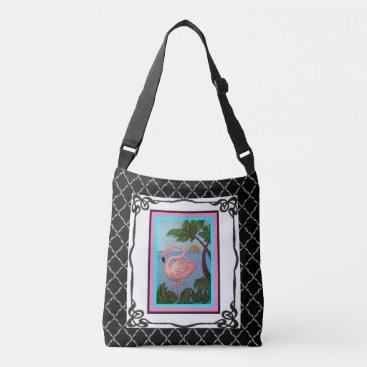 Beach Themed Flamingo Paradise Tote Bag Two