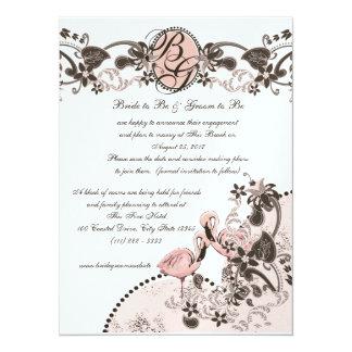 Flamingo Paradise Wedding 5.5x7.5 Paper Invitation Card