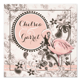 Flamingo Paradise Wedding Card