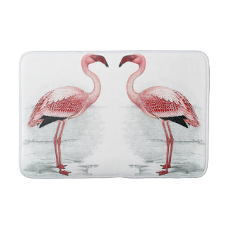 FLAMINGO PARK 2 Pink Flamingos Bath Mat Bath Mats