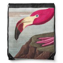 FLAMINGO PARK American Flamingo Drawstring Bag