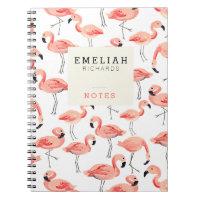 Flamingo Party Custom Notebook