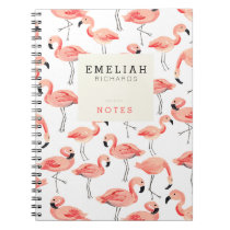 Flamingo Party Custom Notebook