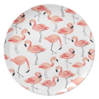 Flamingo Party Dinner Plate