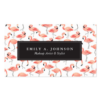 Flamingo Party Double-Sided Standard Business Cards (Pack Of 100)