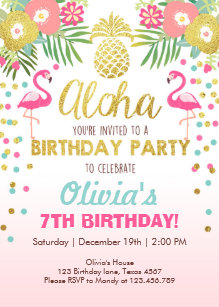 flamingo invitations zazzle
