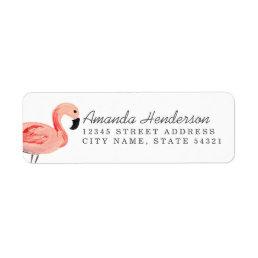 Flamingo Party Label