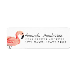 Flamingo Party Label