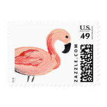 Flamingo Party Postage