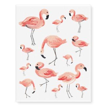 origamiprints Flamingo Party Temporary Tattoos