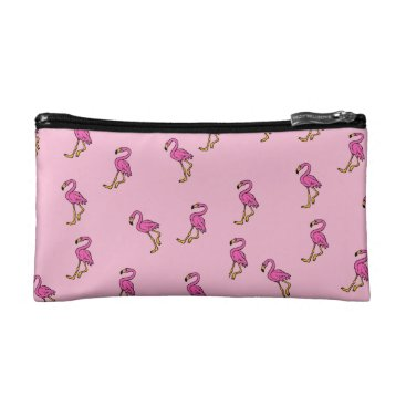 Beach Themed Flamingo Pattern Cosmetic Bag