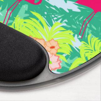 flamingo pattern Gel Mouse pad