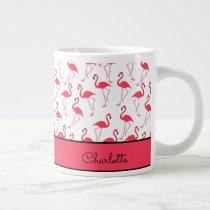 Flamingo Pattern Giant Coffee Mug