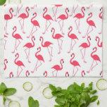 "Flamingo Pattern Hand Towel<br><div class=""desc"">Adorable pink flamingo pattern.  Easily change name</div>"