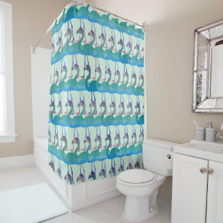Flamingo Pattern Shower Curtain - Any Color (Mult)