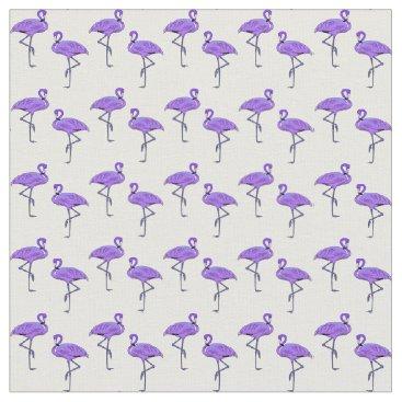 Beach Themed Flamingo Pattern Vibrant Purple Fabric