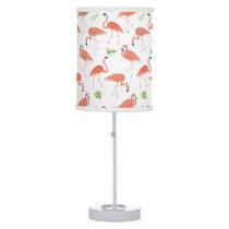 Flamingo Pattern Watercolor Table Lamp