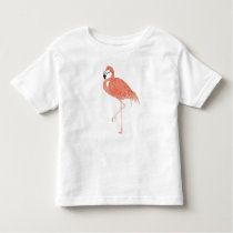 Flamingo Pattern Watercolor Toddler Shirt