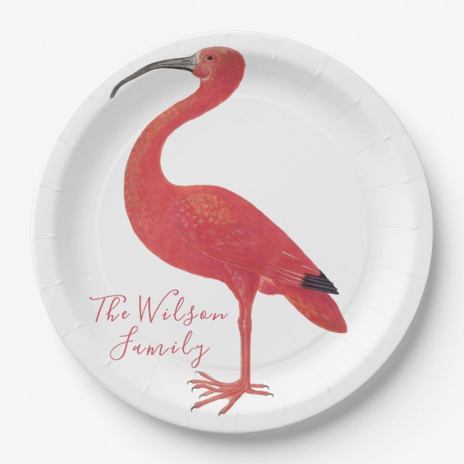 Flamingo - Personalized Fine Art Paper Plates