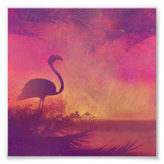 flamingo photo print