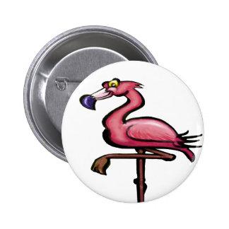 Flamingo Pinback Button