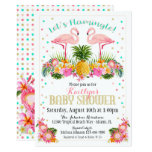Flamingo Pineapple Tropical Baby Shower Card