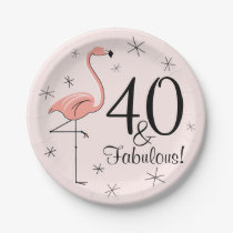 Flamingo Pink 40 and Fabulous paper plate